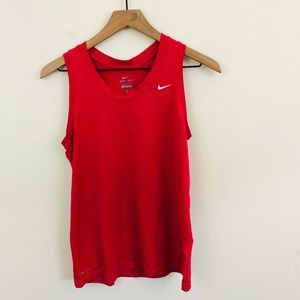 Nike Dri-Fit Red Workout Tank Top